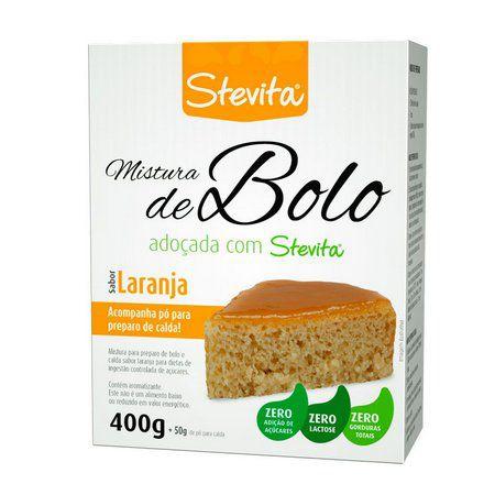 Mistura para Bolo sabor Laranja - 400g - Stevita