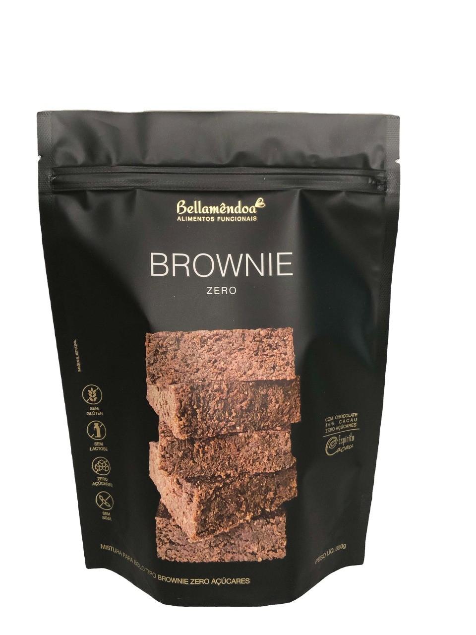 Mistura para Brownie Zero (350g) - Bellamêndoa