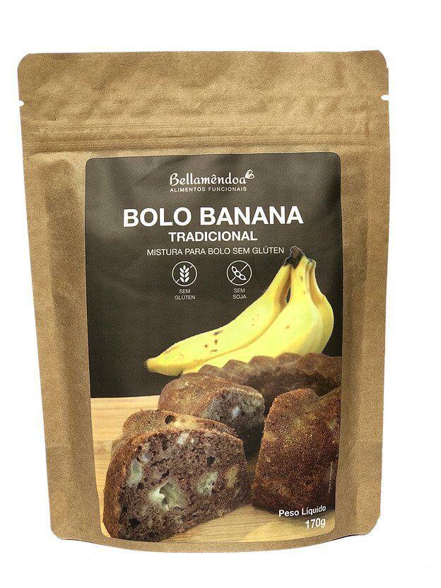 Mix Bolo de Banana Tradicional (170g) - Bellamêndoa