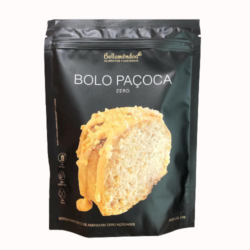 Mix Bolo de Paçoca LOW CARB (250g) - Bellamêndoa