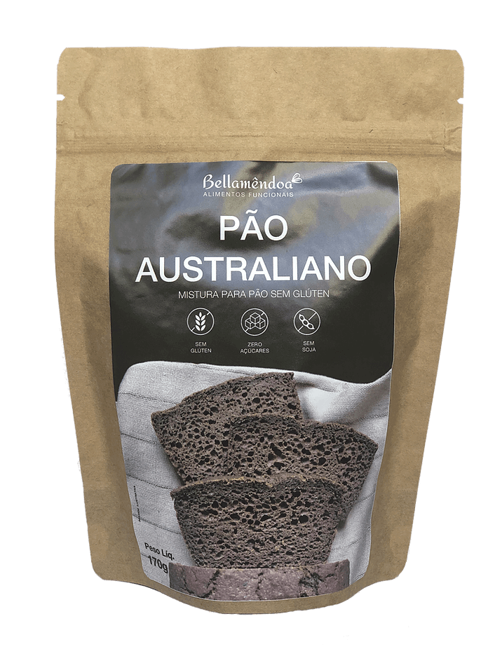 Mix Pão Australiano LOW CARB (170g) - Bellamêndoa