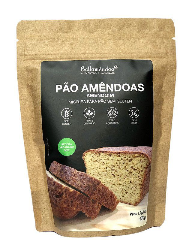 Mix Pão de Amêndoas LOW CARB (170g) - Bellamêndoa