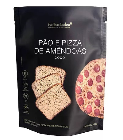 Mix Pão e Pizza de Amêndoas LOW CARB (170g) - Bellamêndoa