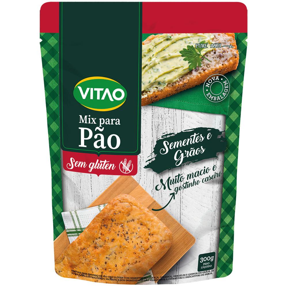 Mix Para Pão Sem Glúten Sementes e Grãos (300g) - VITAO