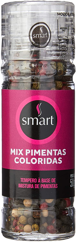 Mix Pimentas Coloridas com Moedor (50g) - Smart