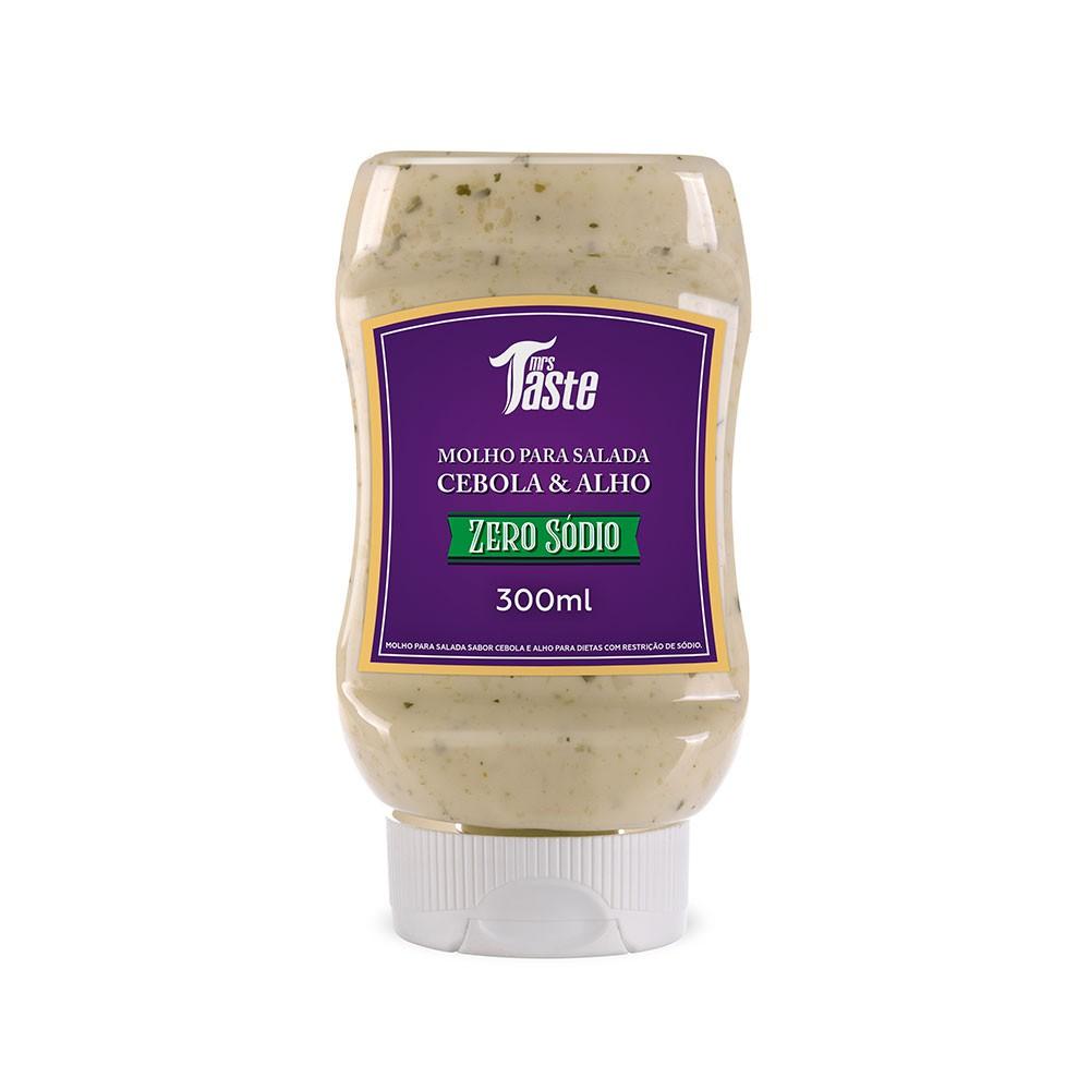 Molho para Salada Cebola e Alho Sem Sódio - Mrs Taste
