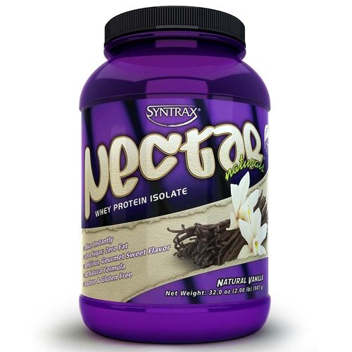 Nectar Whey Protein Isolado Natural Vanilla (Baunilha)  ZERO CARBO (907g) - Syntrax