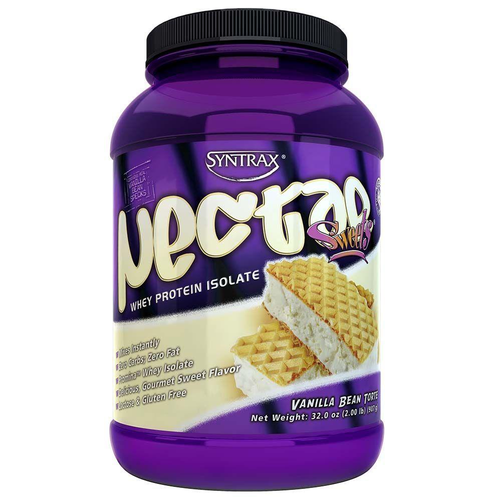 Nectar Whey Protein Isolado Vanilla Bean Torte ZERO CARBO (907g) - Syntrax