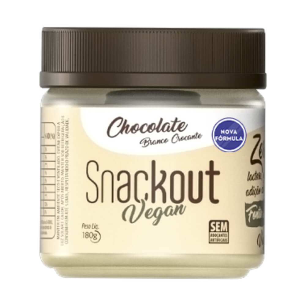 Doce Snackout Chocolate Branco Nibs Vegan - 180g
