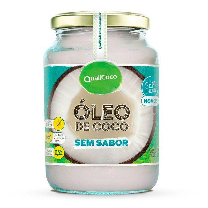Óleo de Coco Sem Sabor (500ml) QualiCoco