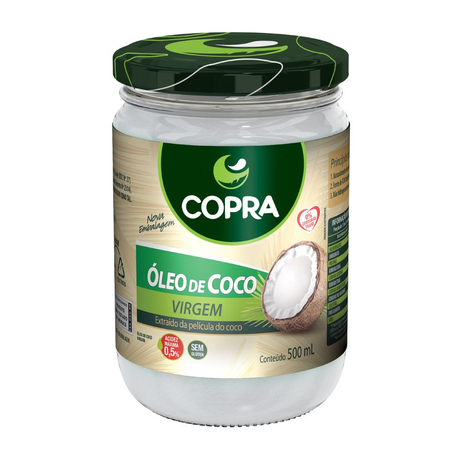 Óleo de coco Virgem (500ml) - Copra