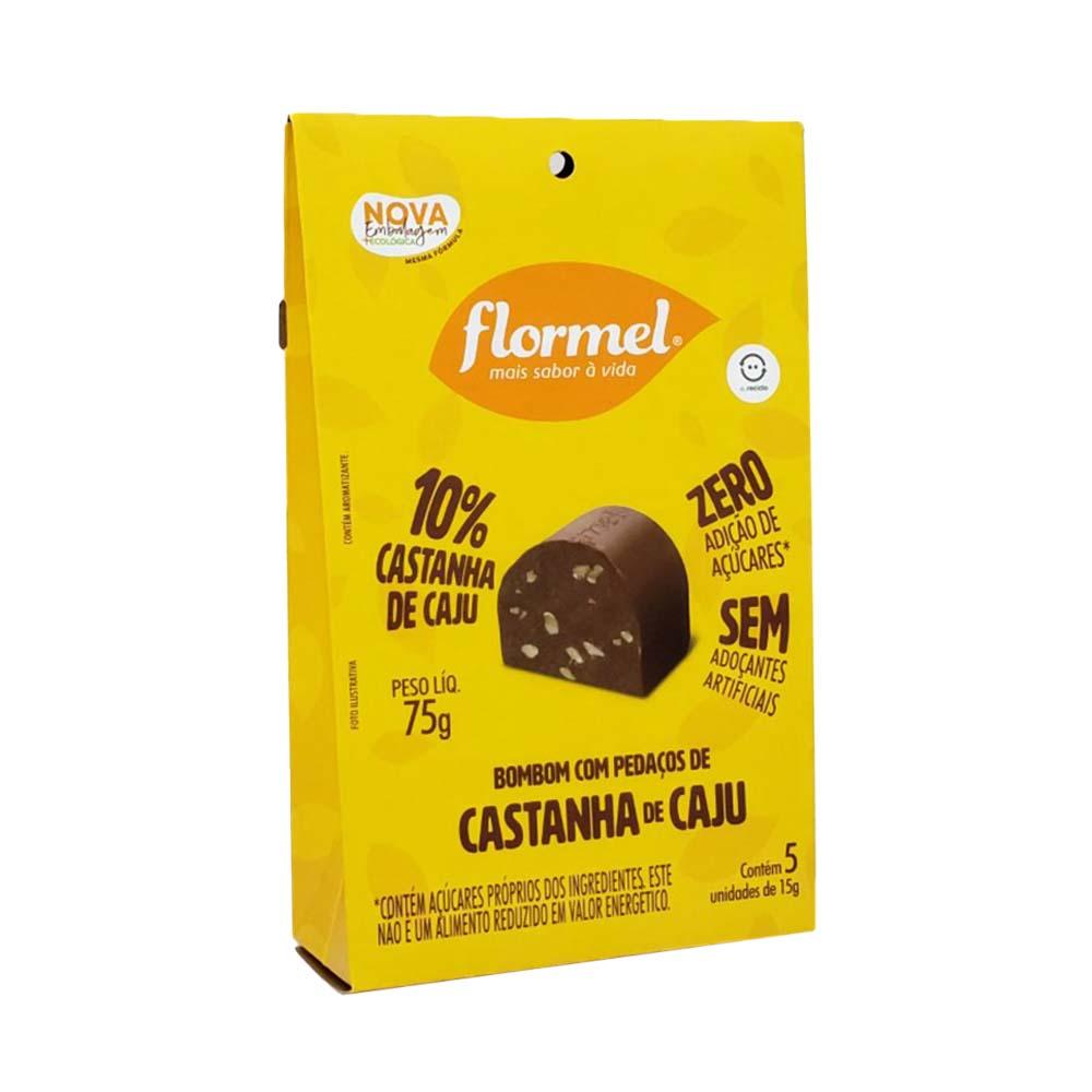 Pacote 5 unidades Bombom Castanha de Caju  (75g) - Flormel