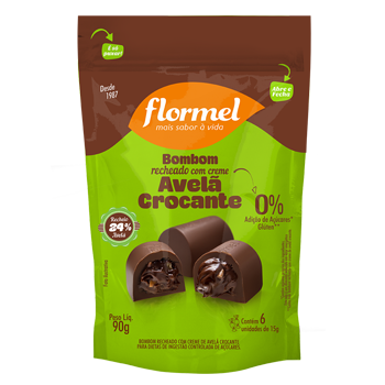Pacote 5 unidades Bombom Avelã Crocante  (75g) - Flormel