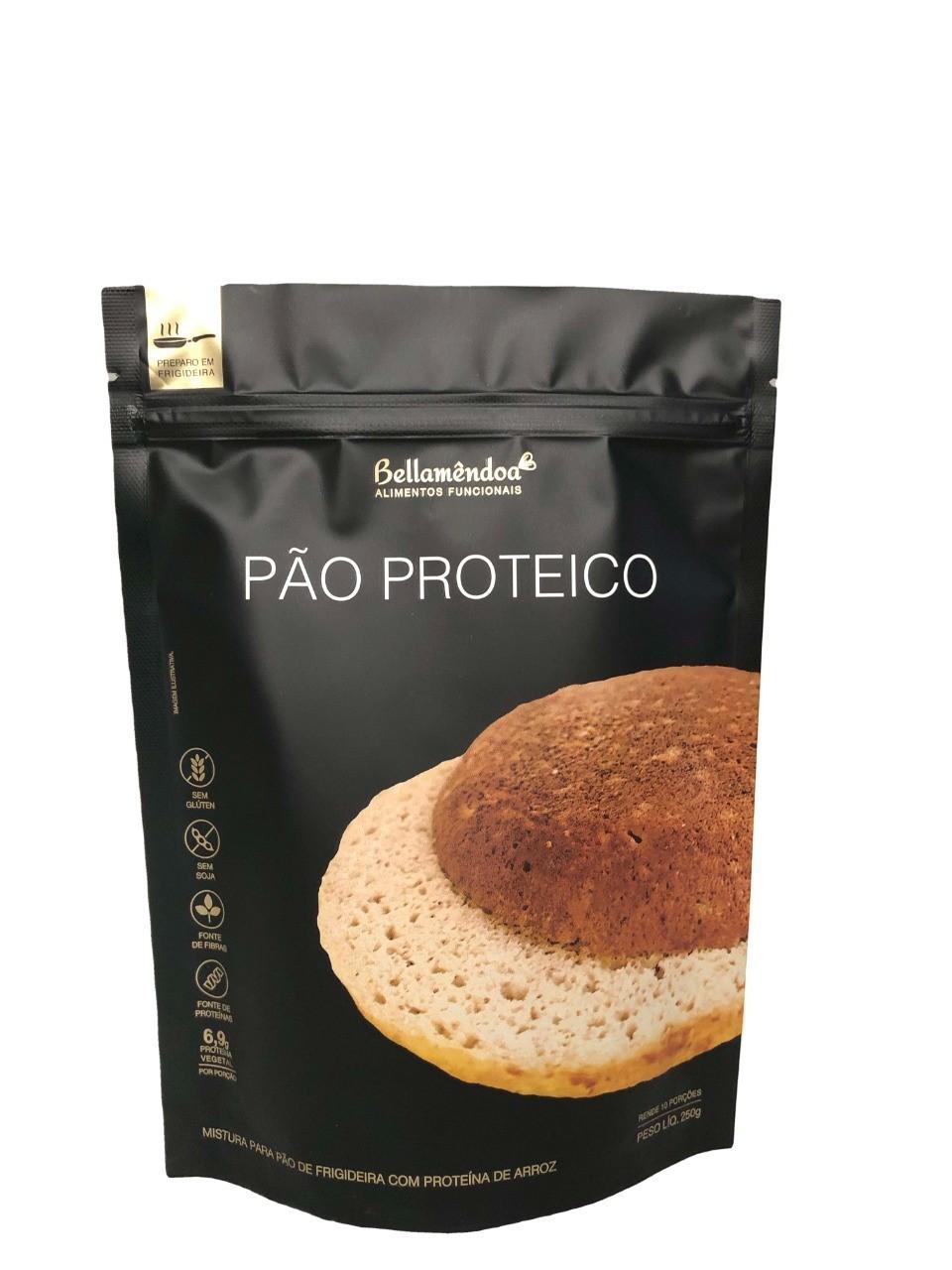 Pão Proteico de Frigideira - 10 Porções (250g) - Bellamêndoa