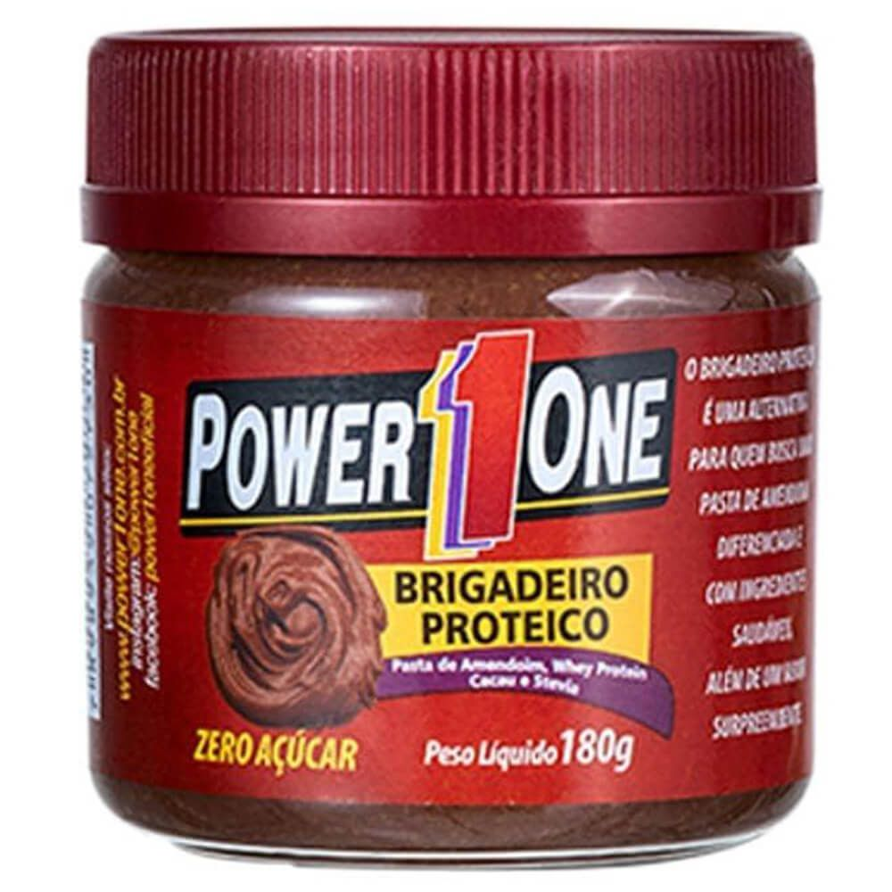 Pasta de Amendoim Brigadeiro Proteico (180g) - Power1one