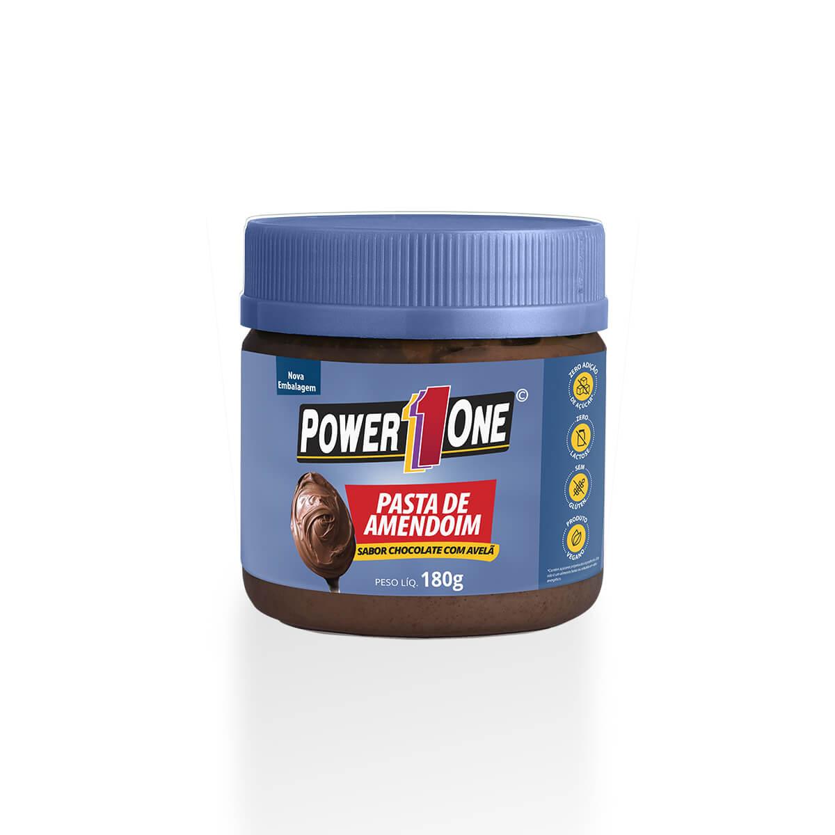 Pasta de Amendoim Chocolate com Avelã (180g) - Power1one
