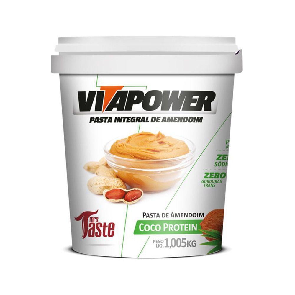 Pasta de Amendoim Coco Protein (1,005kg) - VitaPower