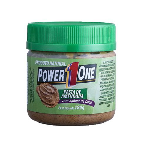 Pasta de Amendoim com Açúcar de Coco (180g) - Power1One