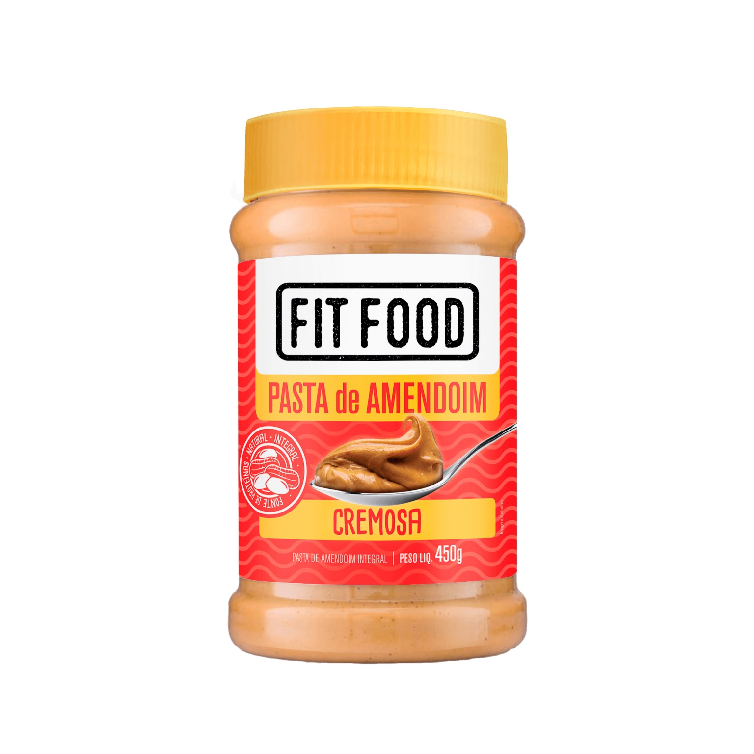 Pasta de Amendoim Cremosa (450g) - Fit Food