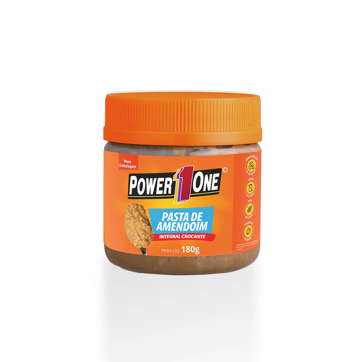 Pasta de Amendoim Integral Crocante (180g) - Power1One