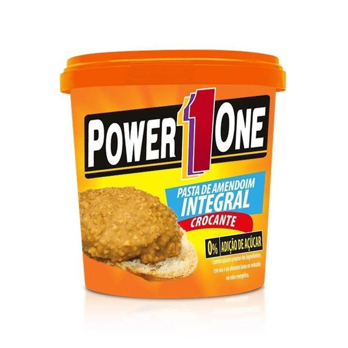 Pasta de Amendoim Integral Crocante (1,005kg) - Power1One