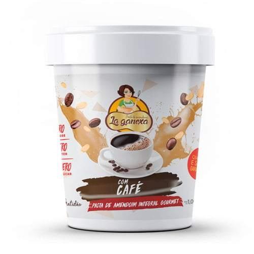 Pasta de Amendoim Integral Gourmet Com Café (150g) - La ganexa