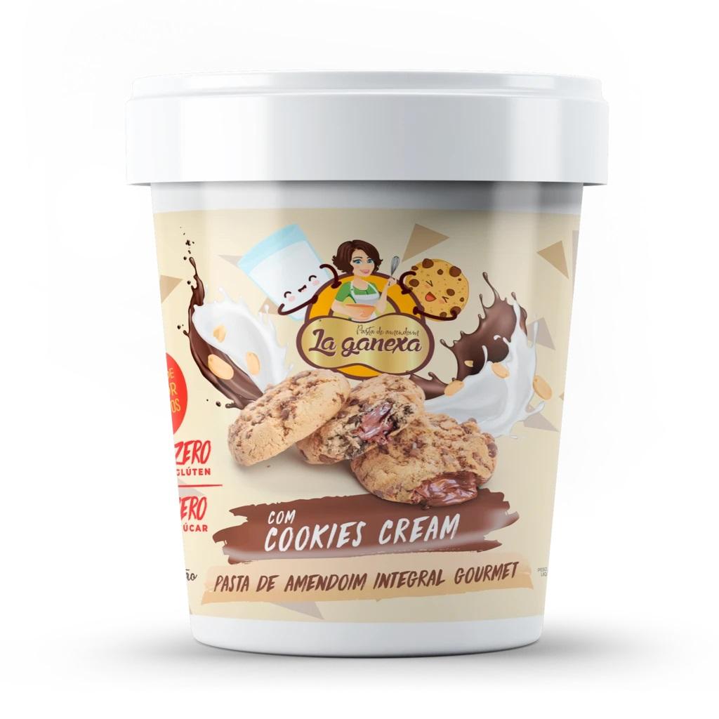 Pasta de Amendoim Integral Gourmet Com Cookies Cream (1Kg) - La ganexa