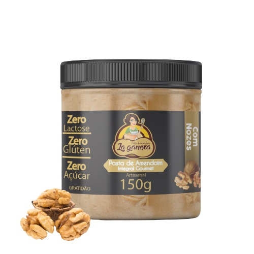 Pasta de Amendoim Integral Gourmet Com Nozes (150g) - La ganexa