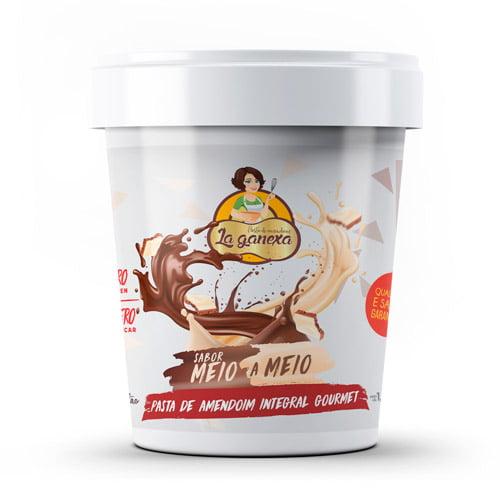 Pasta de Amendoim Integral Gourmet Sabor Meio a Meio (450g) - La ganexa