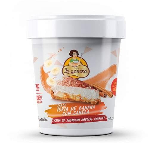 Pasta de Amendoim Integral Gourmet Sabor Torta de Banana com Canela (450g) - La ganexa