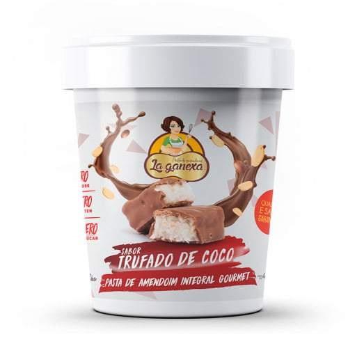 Pasta de Amendoim Integral Gourmet Sabor Trufado de Coco (450g) - La ganexa