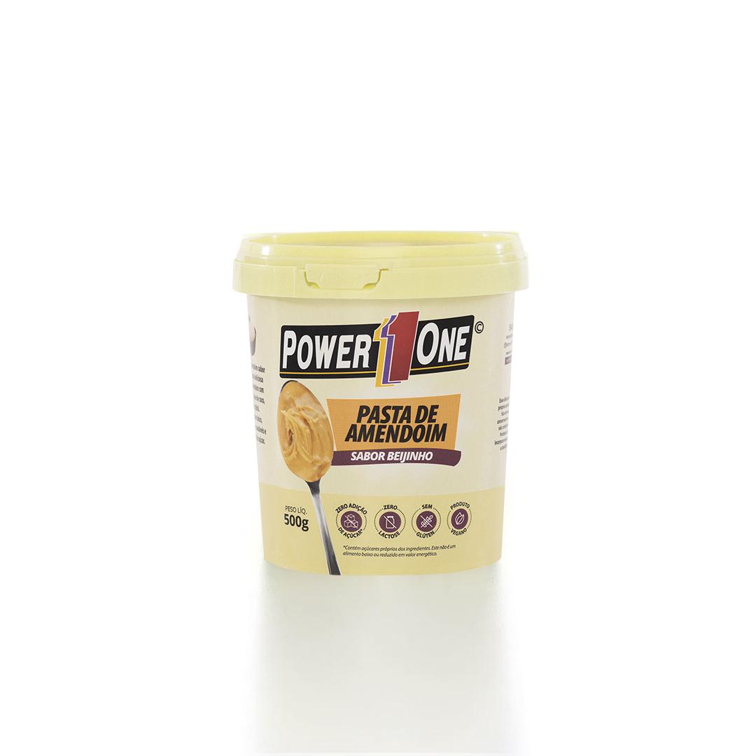 Pasta de Amendoim Sabor Beijinho (500g) - Power1one