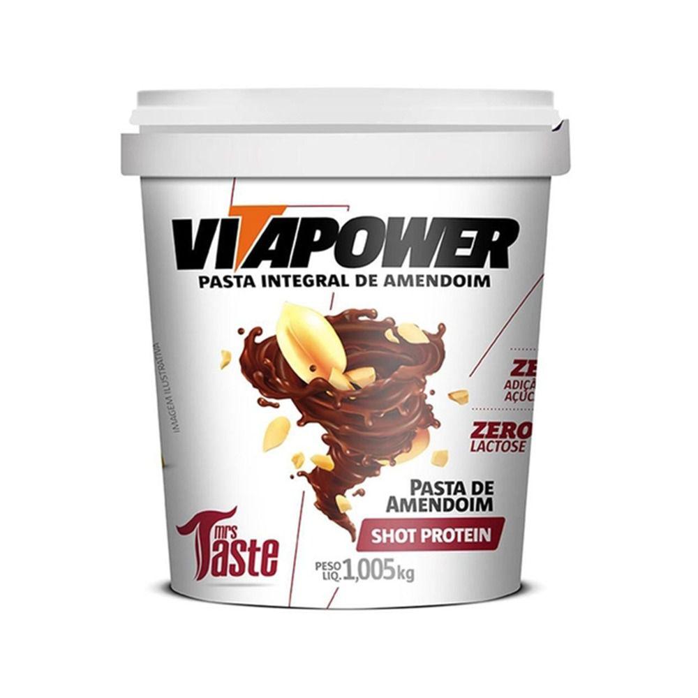 Pasta de Amendoim Sabor Shot (1,005kg) - VitaPower