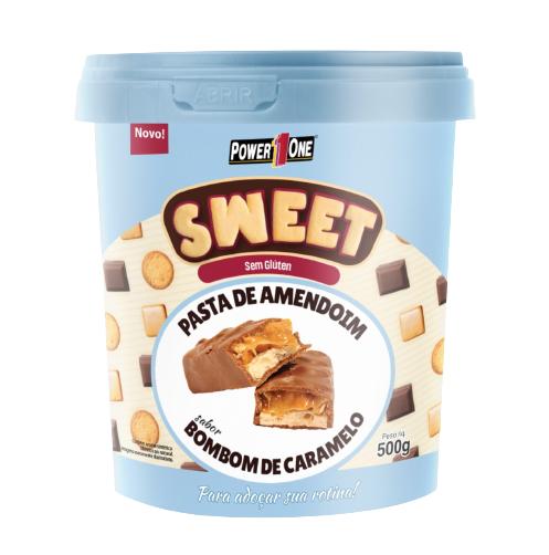 Pasta de Amendoim Sweet Sabor Bombom de Caramelo (500g) - Power1one