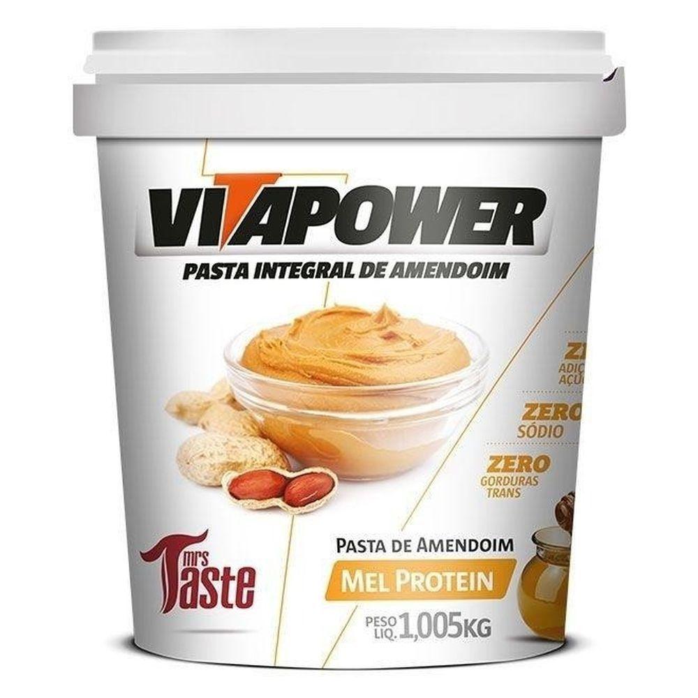 Pasta de Amendoim Mel Protein VitaPower - 1kg - Mrs Taste
