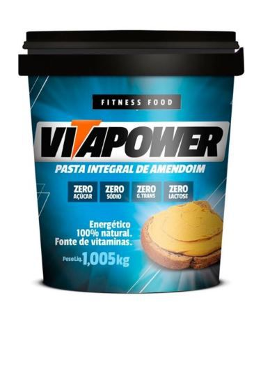 Pasta Integral de Amendoim VitaPower - 1kg - Mrs Taste
