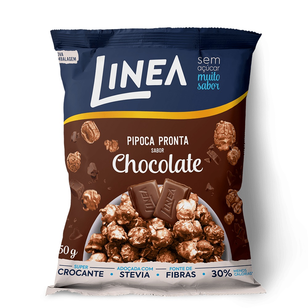 Pipoca Pronta Sabor Chocolate (50g) - Linea