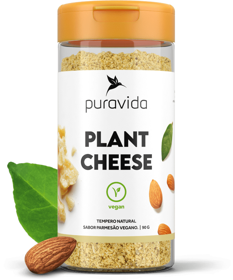 Plant Cheese Tempero Natural Sabor Parmesão Vegano (90g) - PuraVida
