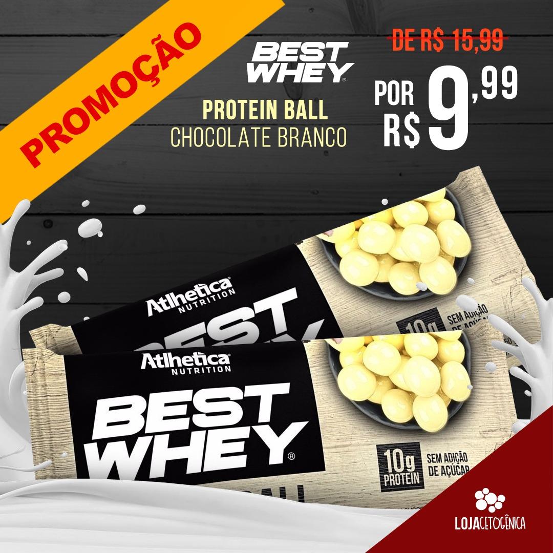 PROMOÇÃO: Best Whey Protein Ball Chocolate Branco (50g) - Atlhetica Nutrition