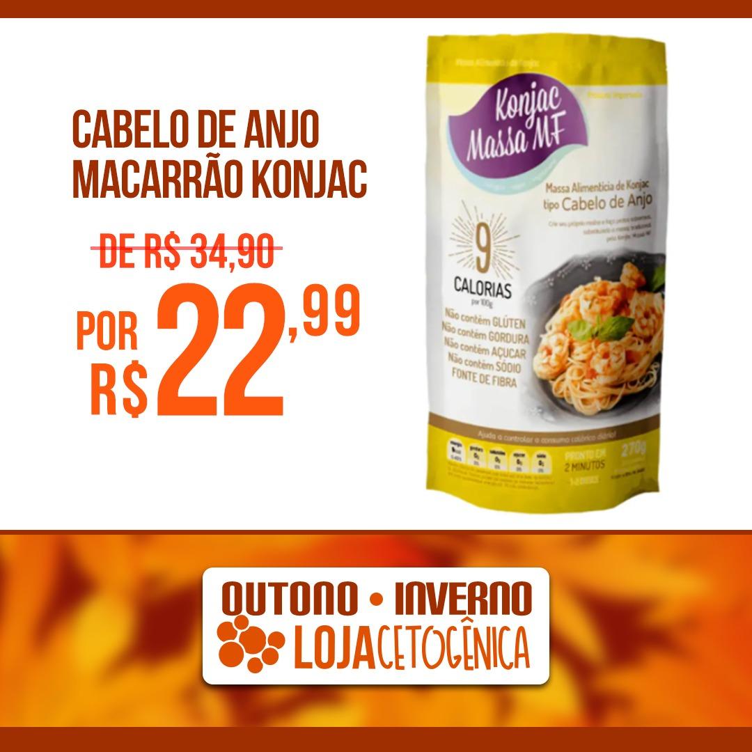 PROMOÇÃO: Cabelo de Anjo Macarrão Konjac Zero Carbo (200g) - Massa MF