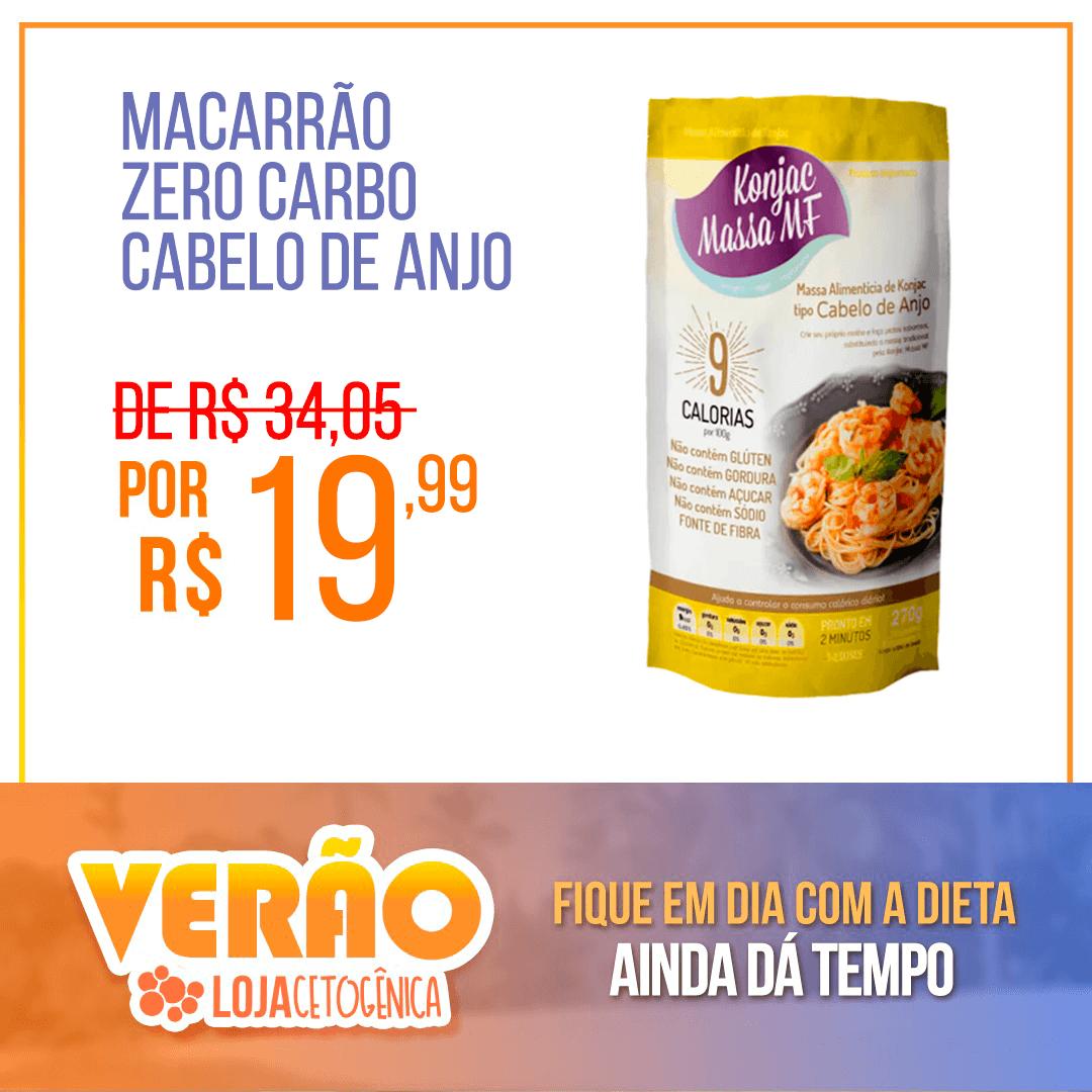 PROMOÇÃO: Cabelo de Anjo Macarrão Konjac Zero Carbo