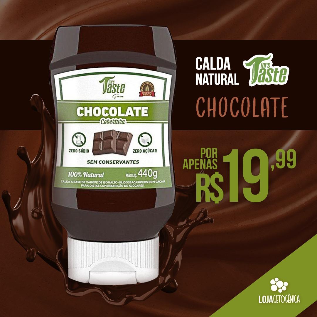 PROMOÇÃO: Calda Natural de Chocolate (280g) - Mrs Taste Green