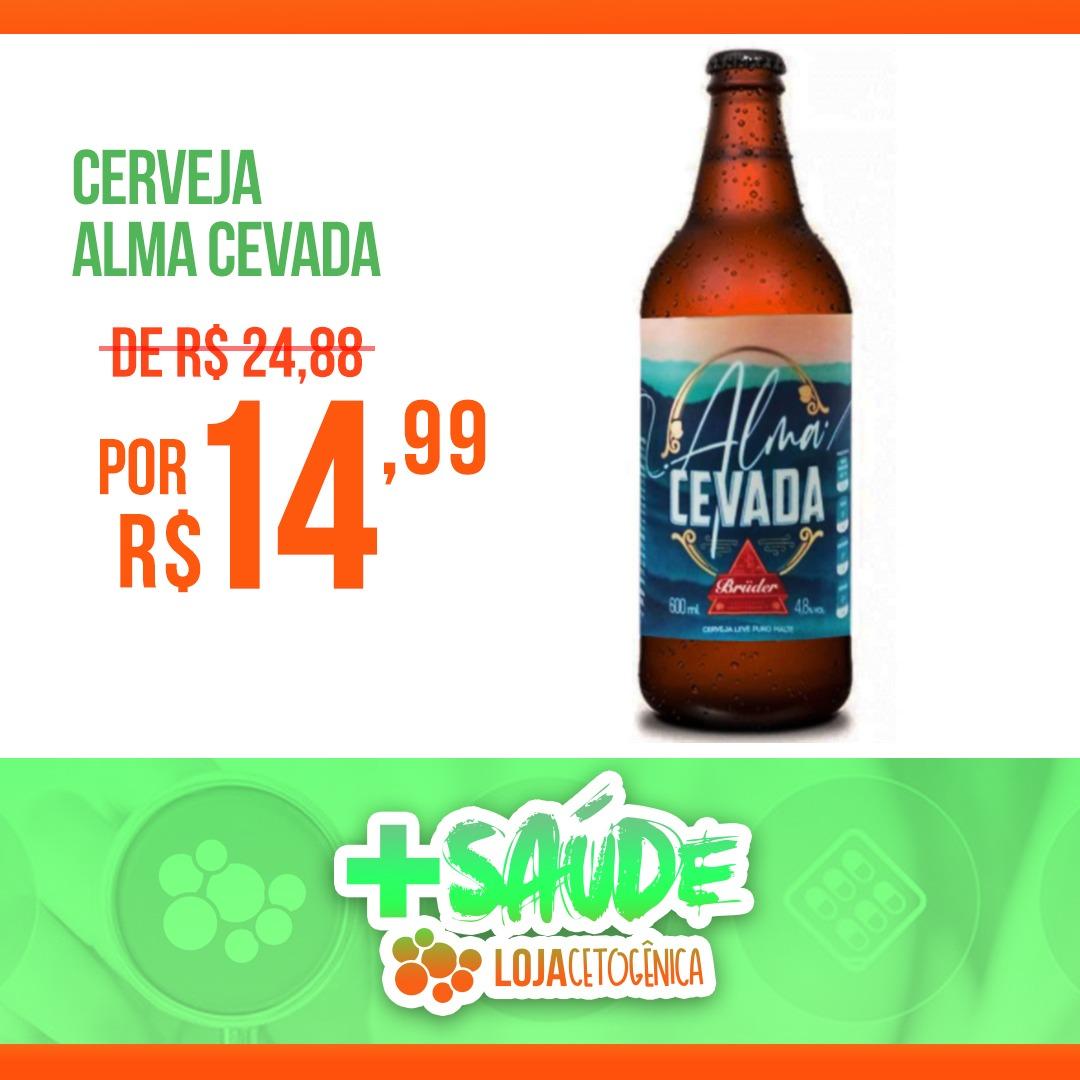 PROMOÇÃO: Cerveja Zero Carboidratos Alma Cevada Bruder Puro Malte 600ml