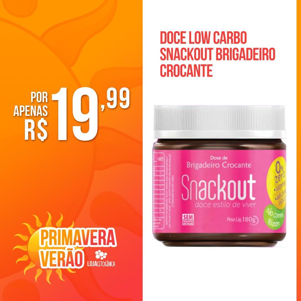 PROMOÇÃO Doce Low Carbo Snackout BRIGADEIRO CROCANTE