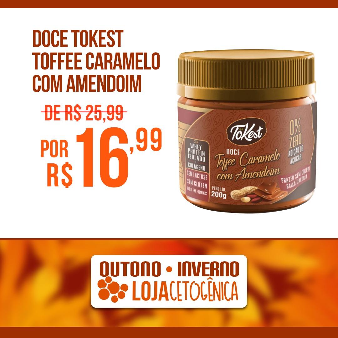 PROMOÇÃO: Doce Tokest Toffee Caramelo com Amendoim (200g)
