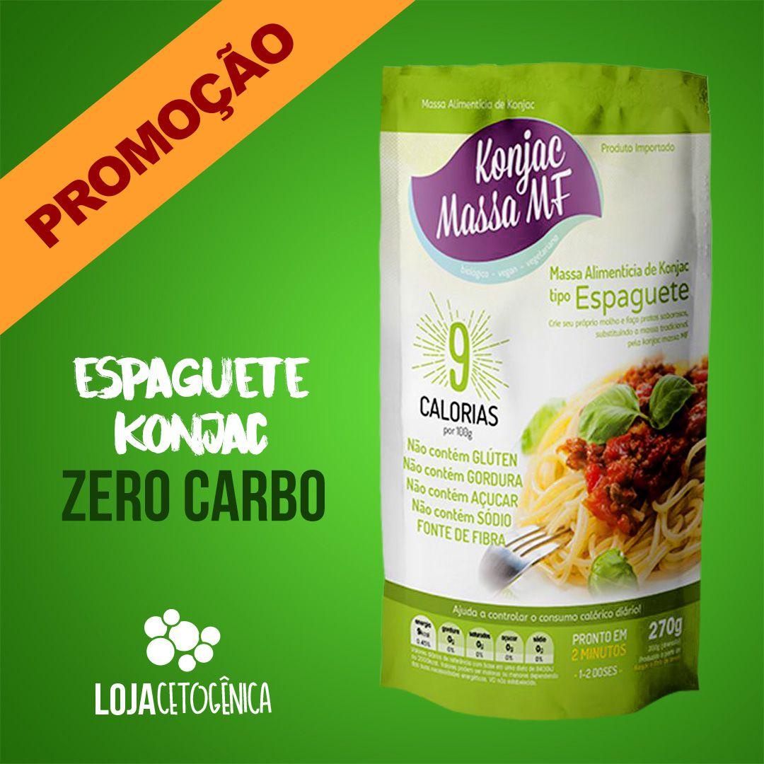 PROMOÇÃO: Espaguete Macarrão Konjac Zero Carbo - 270g - Massa MF