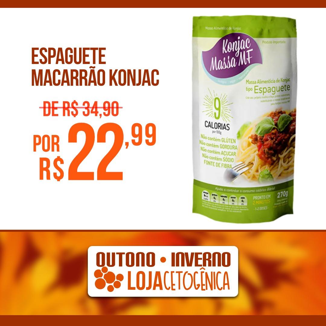 PROMOÇÃO: Espaguete Macarrão Konjac Zero Carbo (200g) - Massa MF