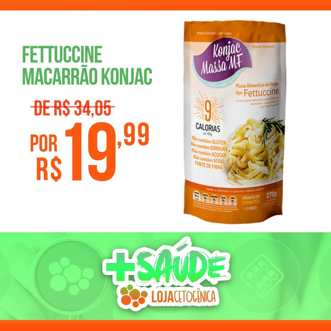 PROMOÇÃO: Fettuccine Macarrão Konjac Zero Carbo - 270g