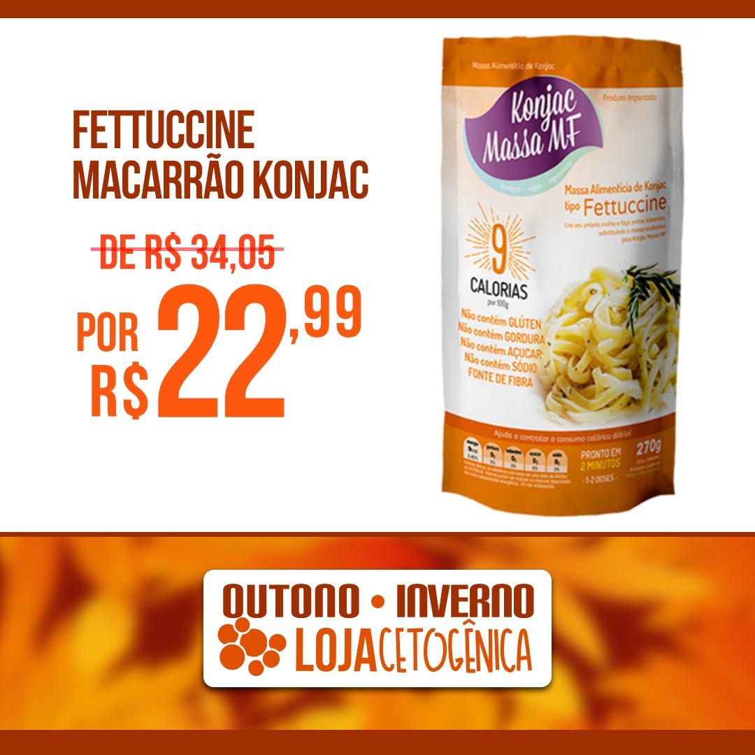 PROMOÇÃO: Fettuccine Macarrão Konjac Zero Carbo (270g) - Massa MF