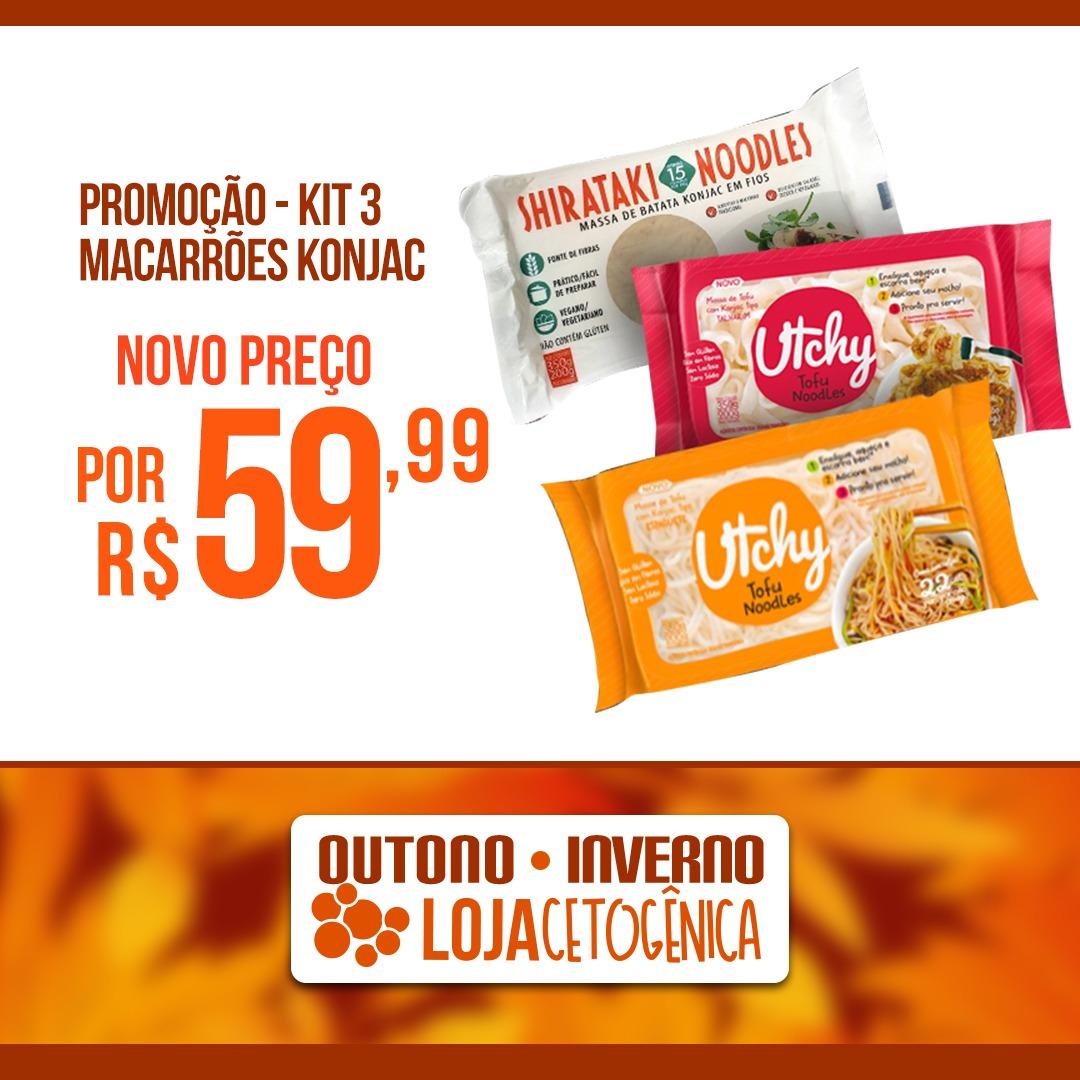 PROMOÇÃO - Kit 3 Macarrões Konjac - 200g - Hyde Alimentos